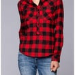 Red and Black Plaid Checkered Top