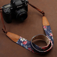 SLR Camera Strap  Canon/Nikon Camera Strap  DSLR Camera Strap  Flower Camera Strap