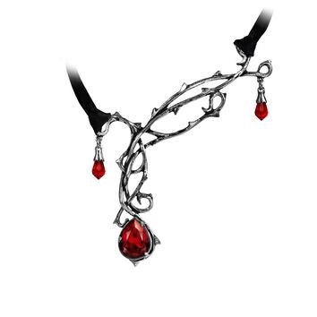 Alchemy Gothic Passion Thorns & Teardrop Choker Necklace
