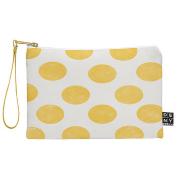 Allyson Johnson Spring Yellow Dots Pouch