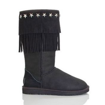 Ugg 3045 Jimmy Choo Boots Black Outlet UK