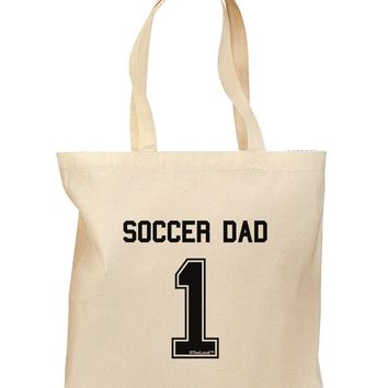Soccer Dad Jersey Grocery Tote Bag by TooLoud