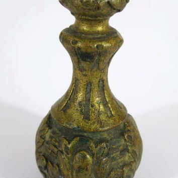 French Blind Pull/Light Pull - French Bronze - Rococo - Bottle Shaped  (3418K)-french light pull - french blind pull - blind pull