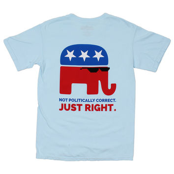 Not Politically Correct Tee in Chambray by America's Outfitters - FINAL SALE