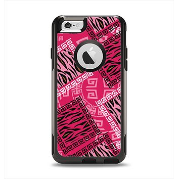 The Pink Patched Animal Print Apple iPhone 6 Otterbox Commuter Case Skin Set