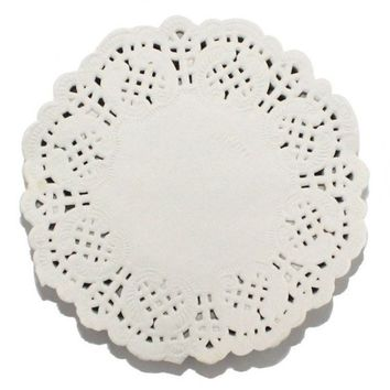 """Pack of 100 Round White Greaseproof 3.5"""" Paper Doilies. 88mm Diameter. Easter, Christmas and Parties. Table Decoration, Placemat and Coaster"""