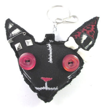 ZOMBIE CAT CHARM bag charm voodoo doll psychobilly  punk goth / Free Shipping Worldwide
