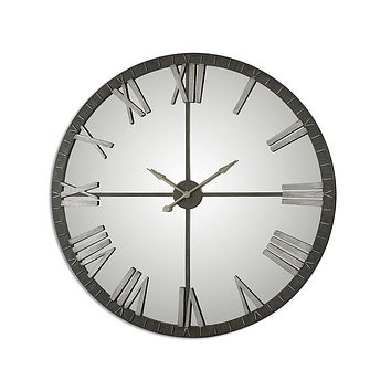 Uttermost Amelie Oversize Wall Clock - Bronze-Tone - Roman Numerals