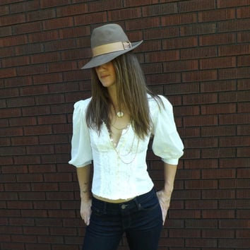 Vintage Unisex Tan Brown Wool Fedora Mens New York Hat Co. WPL 4384 Size Medium Homburg Hat Fedora Men's Hat Gatsby Gangster Boho Womens Hat