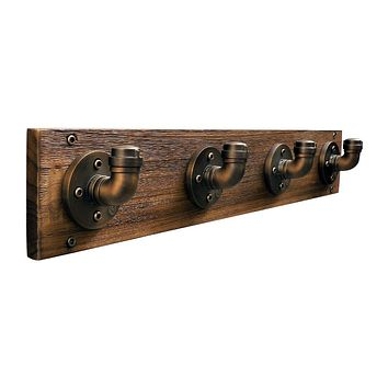 San Antonio Industrial Wall Mounted Coat Rack