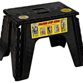 E-Z Foldz® 103-6BK Black Folding Step Stool, 12""