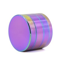 4Layers 40mm 50mm 63mm  Herb Rainbow Grinder Pipes for Smoking Weed Utensils Tobacco Smoke Detectors Pipe Grinding drop shipping