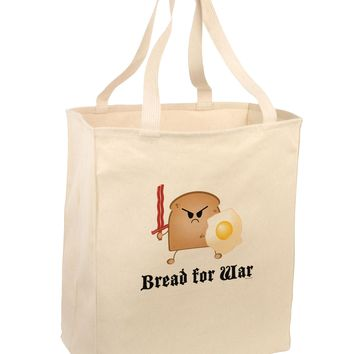 Bread for War Large Grocery Tote Bag