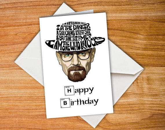 Breaking Bad Birthday Cards Personalised Breaking Bad Card