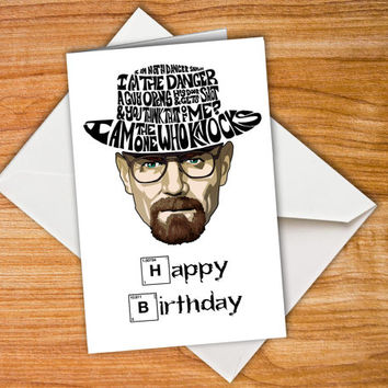 Personalised Breaking Bad card funny birthday card Breaking Bad Birthday Card Happy birthday card Heisenberg Card Walter White customized