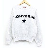 """Converse"" Round Neck Top Pullover Sweater Sweatshirt"