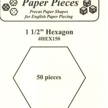 "1 1/2 "" Hexagon Paper Pieces English Paper Piecing"