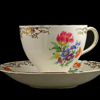 Teacup and Saucer, Old Royal Bone China