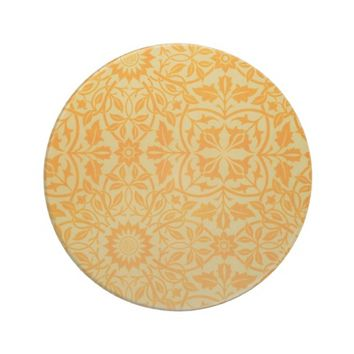 Floral in Orange and Gold Drink Coaster