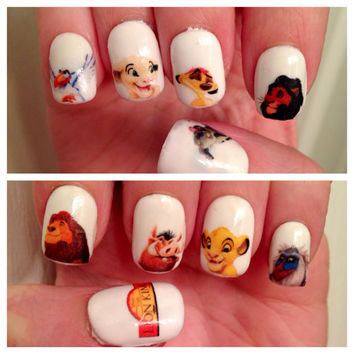 The Lion King Nail Decals
