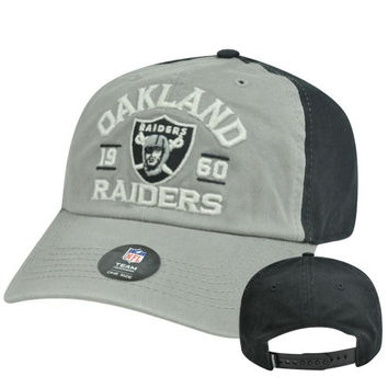 NFL Oakland Raiders Branner 47 Brand Garment Washed Relaxed Snapback Hat Cap