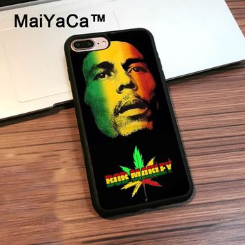 MaiYaCa Rasta Reggae Bob Marleys For Apple iPhone 7 Plus 360 Full Protection Phone Case Capa Coque For iPhone 7Plus Case