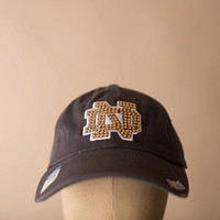 University of Notre Dame Swarovski Crystaled Caps