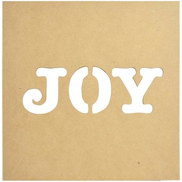 """Beyond The Page MDF Joy Silhouette Wall Art Frame-12""""X12"""""""