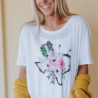 Texas Girl Graphic Tee - White