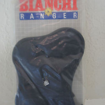 Bianchi Ranger Gun Holster Black Leather Adjustable Right Sliding Size 2