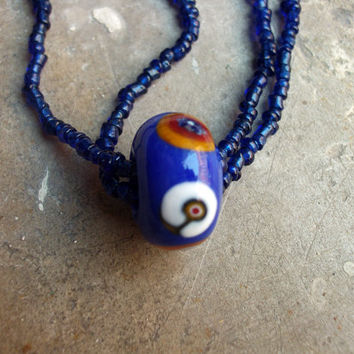 Grand Opening Sale Murano glass Ferris wheel bead pendant on Murano bead necklace, Handcrafted in Venice, Italy