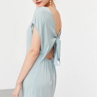 Kimchi Blue Silky Tie-Back Shift Dress | Urban Outfitters