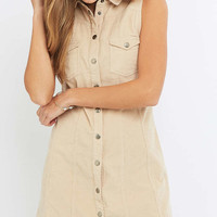 Urban Outfitters Sleeveless Corduroy Shirt Dress - Urban Outfitters
