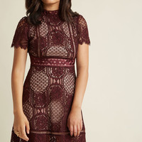 Evocative Appeal A-Line Lace Dress
