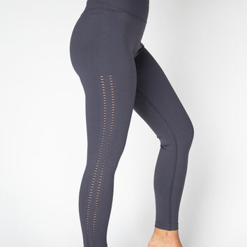 High Waist Drop Needle Compression Yoga Leggings - Gray