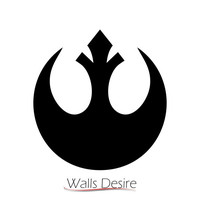 Rebel Alliance, Star Wars Logo, Laptop, Room Decor, Car, vinyl decal, J00187.