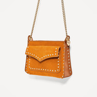 CROSSBODY BAG WITH STUDS DETAIL DETAILS
