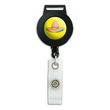 Sombrero Mexican Cinco de Mayo Mexico Retractable Badge Card ID Holder