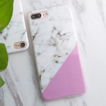 Color Block Marbled Phone Case