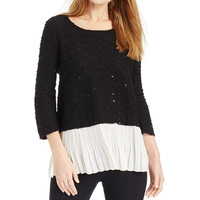 Alfani Womens KNit Sequined Pullover Sweater