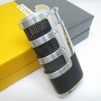 Cohiba Three Jet Flame Torch Metal Lighters (with cigar punch)