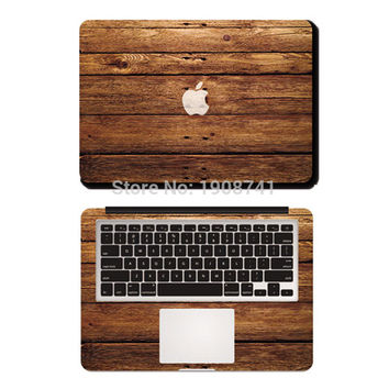 Brown Wood Grain Full Cover Skin Vinyl Decal Sticker For Apple MacBook Air Pro Retina 11 13 15 Laptop Case Cover Sticker