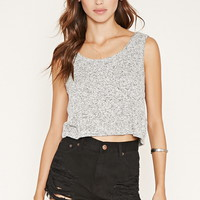 Marled Knit Crop Top | Forever 21 - 2000152517