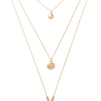 Moon Longline Layered Necklace | Forever 21 - 1000186673