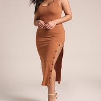 High Slit Plus Size Dress