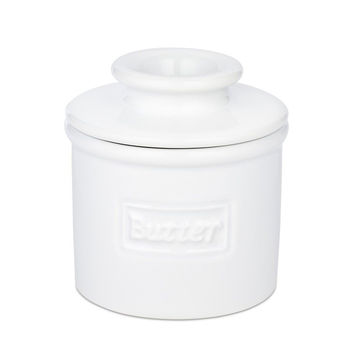 The Original Butter Bell Crock by L. Tremain Cafe Collection White