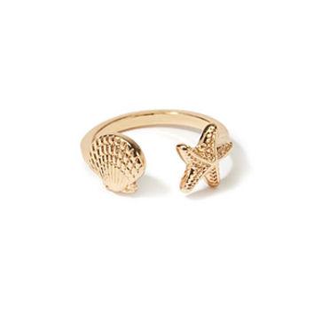 Open-Front Seashell Ring