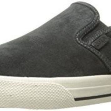 CREYON Polo Ralph Lauren Men's Vaughn Slip Sneaker, Dark Charcoal Grey, 7 D US