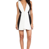 keepsake Modern Art Mini Dress in White