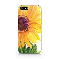 Sunflower Iphone 5 Case, Sunflower Iphone 5S Plastic Case Cover For Iphone 5/5S-Emerishop (iphone 5/5S) (M517)
